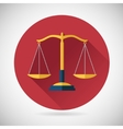 Law Balance Symbol Justice Scales Icon on Stylish vector image