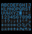 led dot matrix panel letters numbers vector image