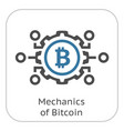mechanics of bitcoin icon vector image vector image
