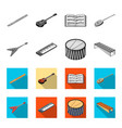 musical instrument monochromeflat icons in set vector image