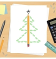 office christmas workplace vector image vector image