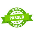 passed ribbon passed round green sign passed vector image vector image