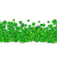 patricks day seamless background with four green vector image