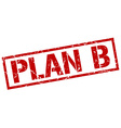 plan b stamp vector image vector image