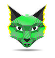 pop art cat creative in low vector image