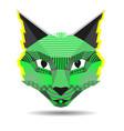pop art cat creative in low vector image vector image