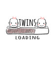 progress bar with inscription - twins loading vector image vector image
