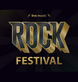 rock music festival poster hipster rock-n-roll vector image vector image