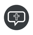 Round christian cross dialog icon vector image vector image