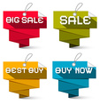 Sale Labels Set Isolated on White Background vector image