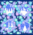 seamless pattern on christmas theme vector image