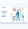 seasonal allergy website landing page vector image