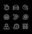 set line icons racing vector image vector image