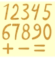 Set of numbers from zero to nine vector image
