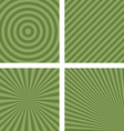 Simple green striped pattern background set vector image vector image