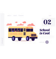 students back to school at coronavirus landing vector image vector image