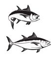 Tuna fish icons vector image