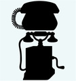 Two phones from different eras vector image vector image