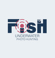 underwater photo hunting fish with a target vector image vector image