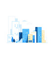 urban landscape city skyline background vector image vector image