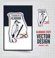 vintage alabama badge and brochure vector image vector image