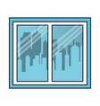 window with city background vector image vector image