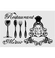 Elegant card for restaurant menu vector image