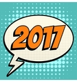 2017 comic book bubble text retro style vector image vector image