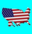 3d flag map usa vector image