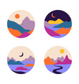abstract contemporary aesthetic set round vector image