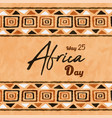 africa liberation day ethnic tribal art card
