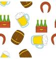 Barley drink pattern cartoon style vector image vector image