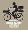 Bicycle Delivery Service Graphic Symbol vector image vector image