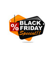 black friday special discount vector image vector image