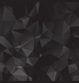 black polygonal which consist of triangles vector image vector image