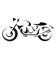 Black silhouette of a motorcycle vector image vector image