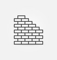 brick wall concept icon or sign in line vector image