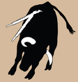 Bull in korida vector image vector image