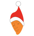 christmas cap or color vector image vector image
