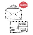collection of hand drawn envelopes vector image