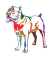 colorful decorative standing portrait of dog cane vector image vector image