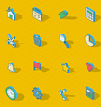 Colorful isometric flat design icon set vector image vector image