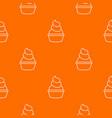 cream cupcake pattern orange vector image vector image