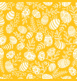 easter pattern with eggs and spring flowers vector image