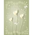 Elegant light scrapbooking floral background vector image