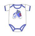 fashion cute clothes for newborn boy vector image
