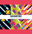 figures geometrics and colors set backgrounds vector image vector image