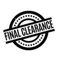 final clearance rubber stamp vector image vector image