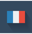 Flat flag of France vector image vector image