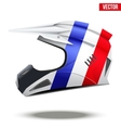 France Flag on Motorcycle Helmets vector image vector image